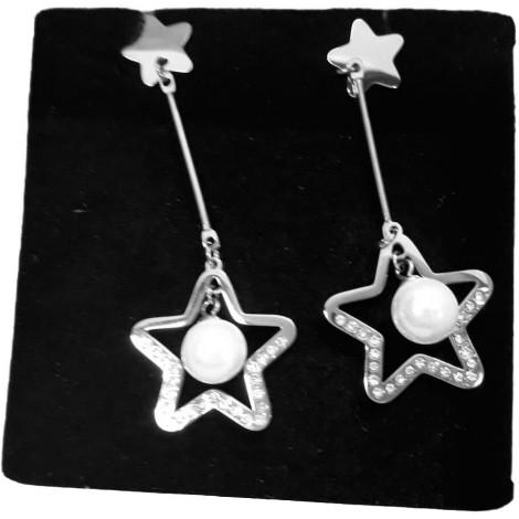 orecchini in acciaio con stella