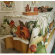 tovaglia in lino per 12 persone cm 270 x 170 della tessitura telerie toscana