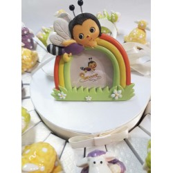 cornice su torta di animaletti mucche per bomboniera