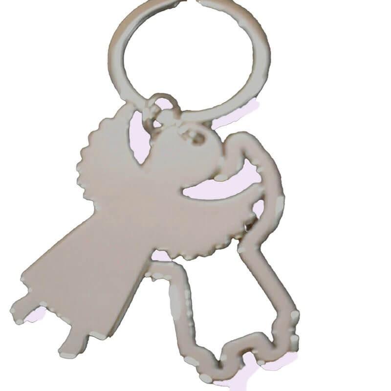 porta chiavi in acciaio per bomboniera