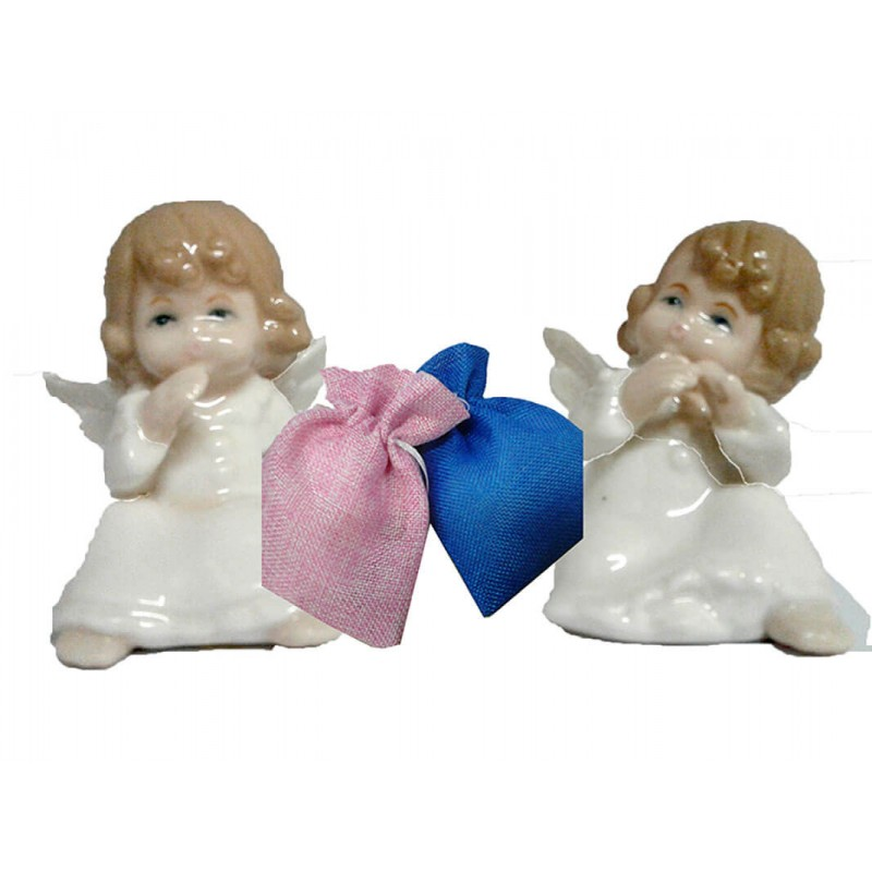 angeli in porcellana per bomboniere